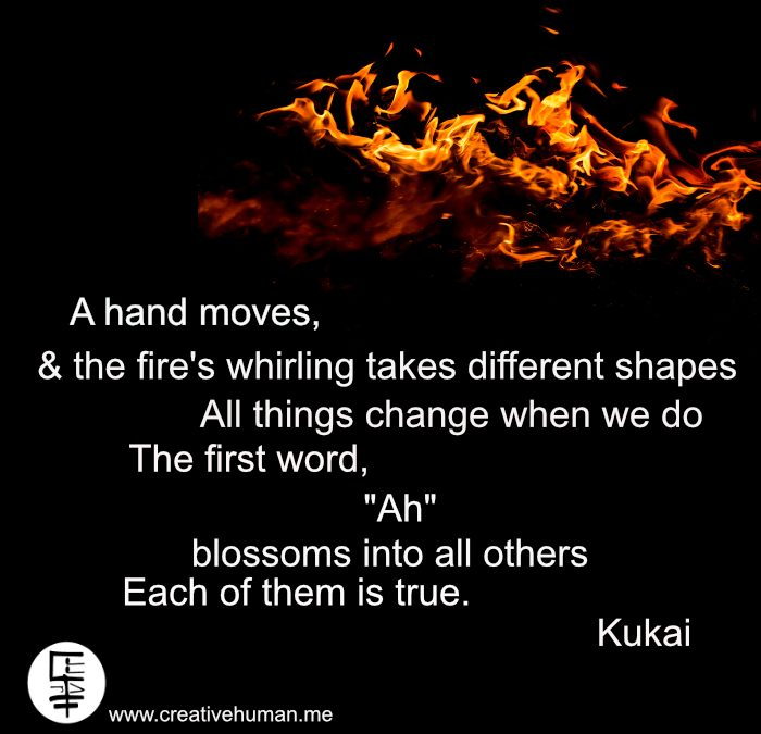 Quote: A hand moves… by Kukai